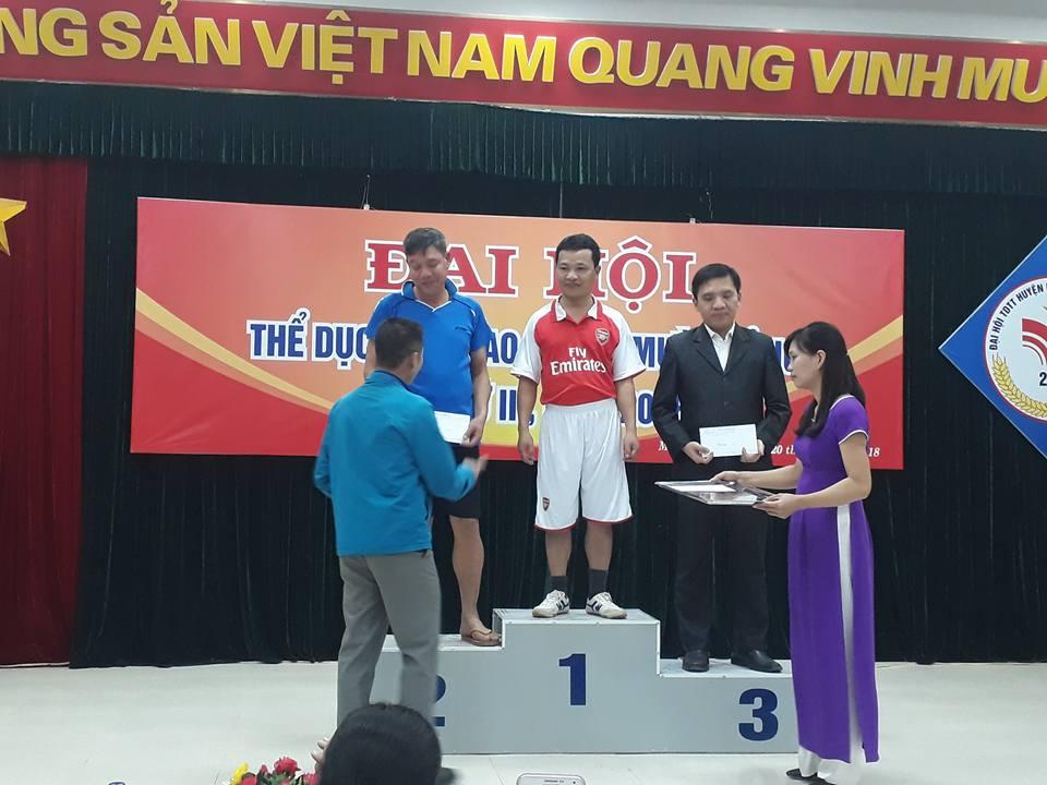 Đồng chí Phạm Quang Đức đại diện đội nam nữ môn Tung còn nhận giải nhất